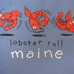 Lobster roll t shirt front view