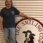 Smiling Cow t shirt navy