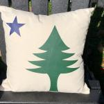 Pillow Maine flag