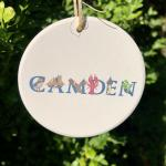 Camden ceramic ornament