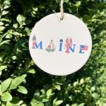 Maine Ceramic ornament
