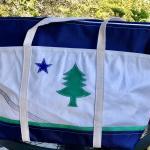 Maine flag sail bag